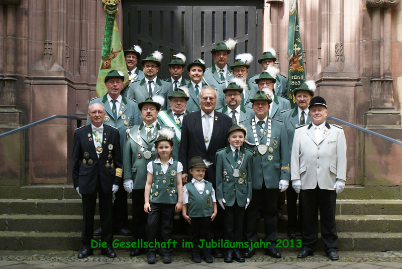 Gesellschaft Jäger Corps 1863 im Jahre 2013